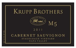 2011 Krupp Brothers M5 Cabernet Sauvignon, Stagecoach Vineyard, Napa Valley, 3.0L ETCHED