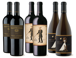 2018 Black Bart's Bride, 2016 Krupp Brothers Petit Verdot, 2016 Water Witch