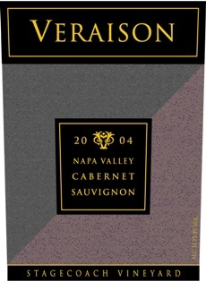 2004 Veraison Cabernet Sauvignon, Stagecoach Vineyard, Napa Valley, 750ml