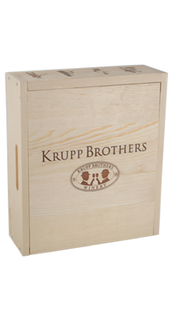 Krupp Brothers 3 Bottle Wood Box