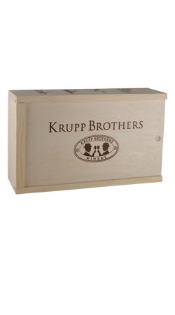 Krupp Brothers 2 Bottle Wood Box Image