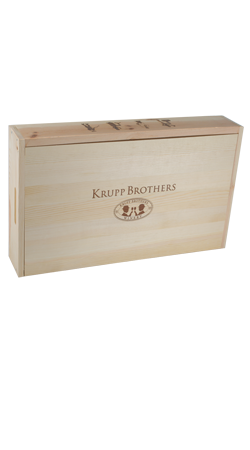 Krupp Brothers 6 Bottle Wood Box