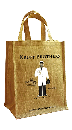 Krupp Brothers 6-Bottle Jute Bag Image